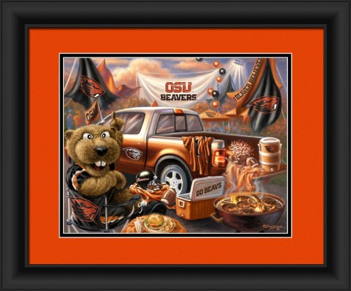 Oregon State Beavers Tailgate Framed Print