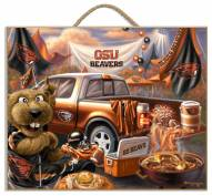 Oregon State Beavers Tailgate Plaque