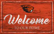 Oregon State Beavers Team Color Welcome Sign