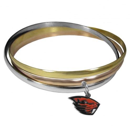 Oregon State Beavers Tri-color Bangle Bracelet