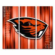 Oregon State Beavers Triptych Rush Canvas Wall Art