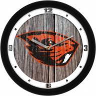 Oregon State Beavers Weathered Wood Wall Clock