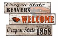 Oregon State Beavers Welcome 3 Plank Sign