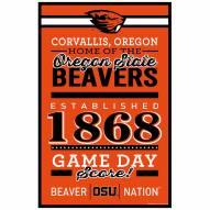 Oregon State Beavers Established Wood Sign