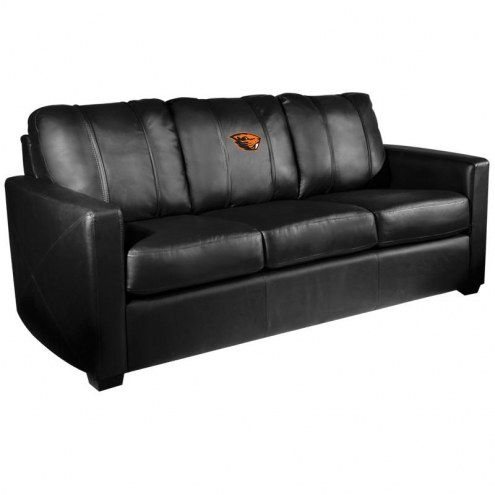 Oregon State Beavers XZipit Silver Sofa with Beaver Logo