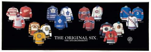 Original Six Legacy Uniform Plaque