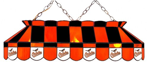 """Baltimore Orioles MLB Team 40"""" Rectangular Stained Glass Shade"""