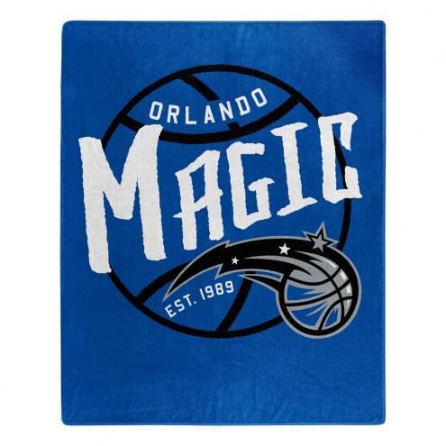 Orlando Magic Blacktop Raschel Throw Blanket