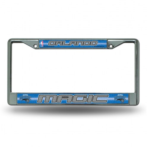 Orlando Magic Chrome Glitter License Plate Frame
