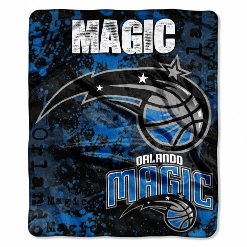 Orlando Magic Drop Down Raschel Throw Blanket
