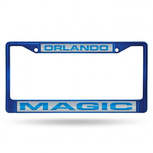 Orlando Magic Laser Colored Chrome License Plate Frame