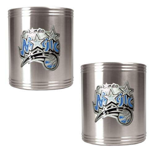 Orlando Magic NBA Stainless Steel Can Holder 2-Piece Set