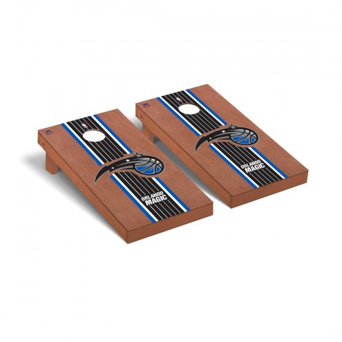 Orlando Magic Rosewood Stained Cornhole Game Set
