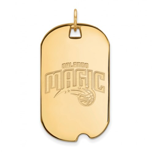 Orlando Magic Sterling Silver Gold Plated Large Dog Tag