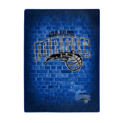 Orlando Magic Street Raschel Throw Blanket