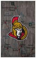 "Ottawa Senators 11"" x 19"" City Map Sign"