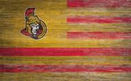 """Ottawa Senators 11"""" x 19"""" Distressed Flag Sign"""