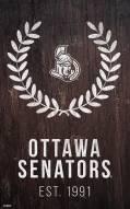 "Ottawa Senators 11"" x 19"" Laurel Wreath Sign"