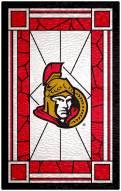 "Ottawa Senators 11"" x 19"" Stained Glass Sign"