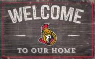 "Ottawa Senators 11"" x 19"" Welcome to Our Home Sign"