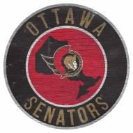 """Ottawa Senators 12"""" Circle with State Sign"""