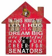 """Ottawa Senators 12"""" House Sign"""