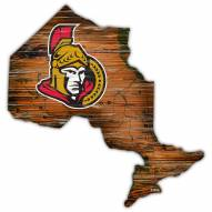 """Ottawa Senators 12"""" Roadmap State Sign"""
