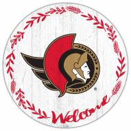"Ottawa Senators 12"" Welcome Circle Sign"