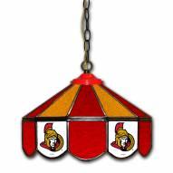 """Ottawa Senators 14"""" Glass Pub Lamp"""