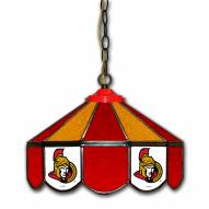 "Ottawa Senators 14"" Glass Pub Lamp"