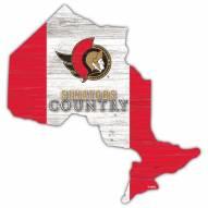"""Ottawa Senators 15"""" Flag Cutout Sign"""