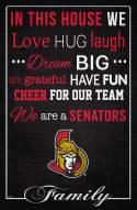 """Ottawa Senators 17"""" x 26"""" In This House Sign"""