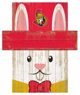 "Ottawa Senators 19"" x 16"" Easter Bunny Head"