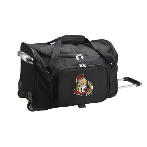 """Ottawa Senators 22"""" Rolling Duffle Bag"""