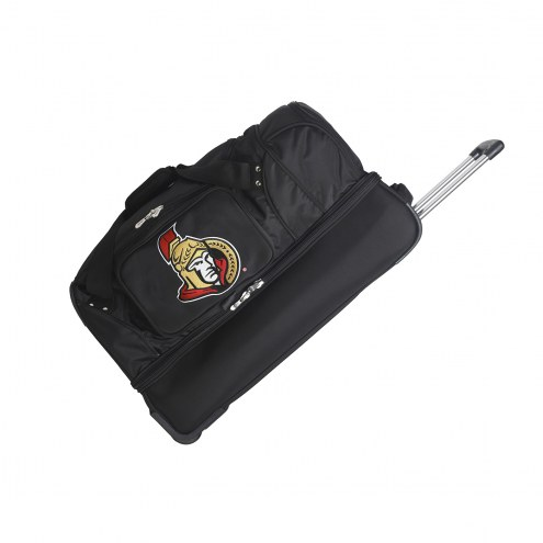 "Ottawa Senators 27"" Drop Bottom Wheeled Duffle Bag"
