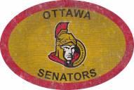 "Ottawa Senators 46"" Team Color Oval Sign"
