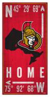 "Ottawa Senators 6"" x 12"" Coordinates Sign"