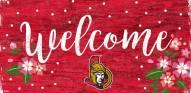 "Ottawa Senators 6"" x 12"" Floral Welcome Sign"