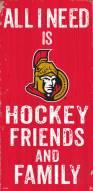 """Ottawa Senators 6"""" x 12"""" Friends & Family Sign"""