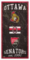 "Ottawa Senators 6"" x 12"" Heritage Sign"