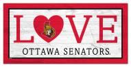 """Ottawa Senators 6"""" x 12"""" Love Sign"""