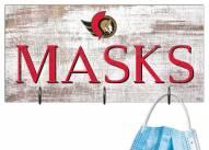 """Ottawa Senators 6"""" x 12"""" Mask Holder"""