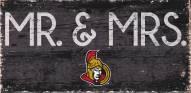 """Ottawa Senators 6"""" x 12"""" Mr. & Mrs. Sign"""