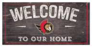 "Ottawa Senators 6"" x 12"" Welcome Sign"