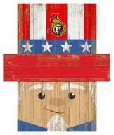 """Ottawa Senators 6"""" x 5"""" Patriotic Head"""