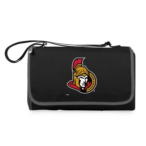 Ottawa Senators Black Blanket Tote