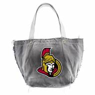 Ottawa Senators Black NHL Vintage Tote Bag