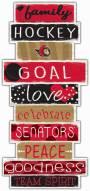 Ottawa Senators Celebrations Stack Sign