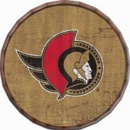 """Ottawa Senators Cracked Color 16"""" Barrel Top"""
