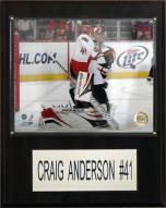 "Ottawa Senators Craig Anderson 12"" x 15"" Player Plaque"